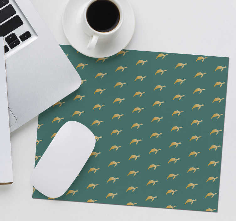 TenStickers. Geometri turtle mouse mat. Come check out our awesome geometric mousepad that has small turtles on it. We have lot of discounts available on our website.