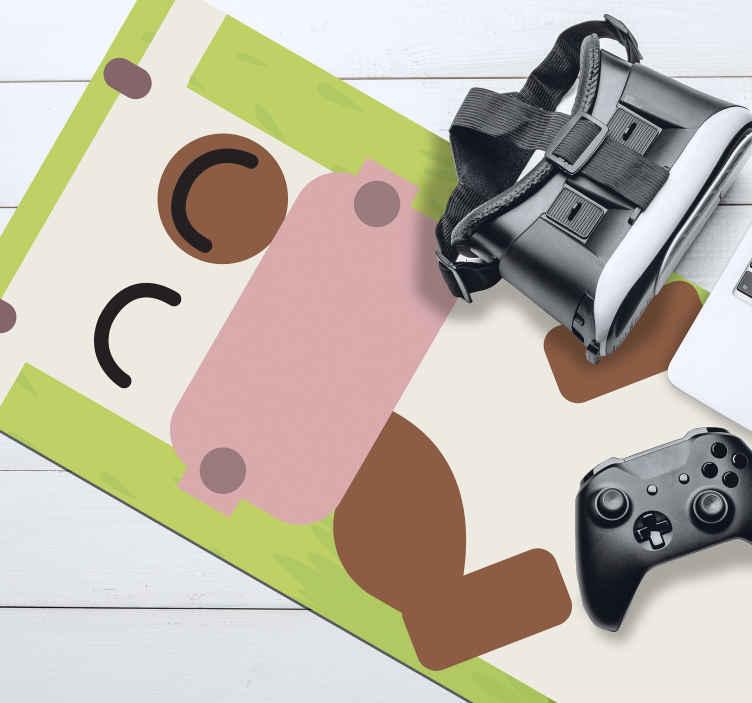 TenVinilo. Alfombrilla de ratón original infantil de vaca. Diseño de alfombrilla vinilo para ratón infantil con dibujo de vaca para regalar a tus pequeños. Elige medidas ¡Envío a domicilio!
