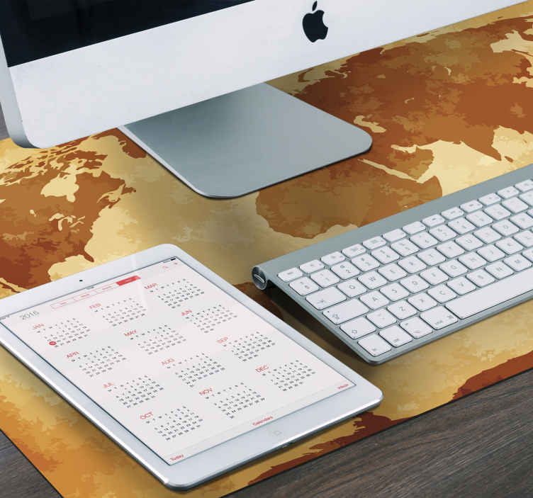 TenStickers. Ancient world map world map vinyl mouse pad. Vintage world map mouse mat design for your desktop space. It is easy to maintain and made from high quality material. Available in different sizes.