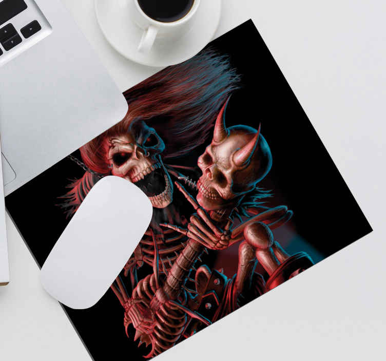 TenStickers. Heavy original vinyl mouse pad. Buy our original graphic skeletal design mouse mat made from high quality material. It is available in different sizes and very easy to use.