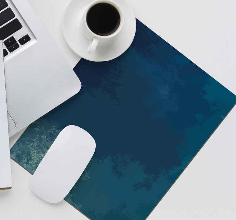 TenStickers. Blue original vinyl mouse pad. Original blue background  mouse pad with thematic design. It is available in different sizes, easy to use and anti allergic.