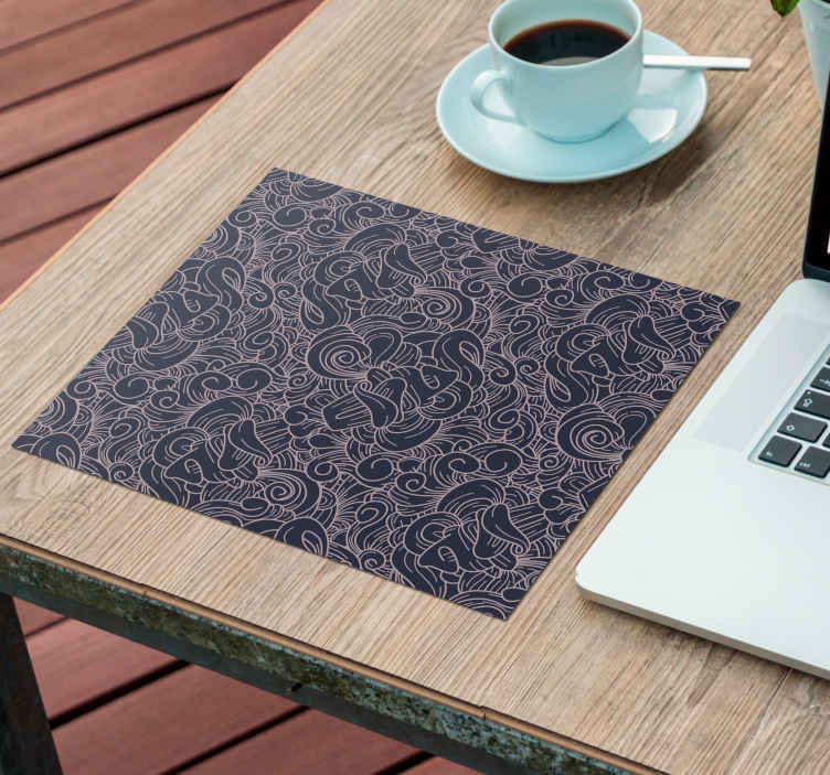 TenStickers. Abstract paisley paisley mouse mat. Trendy mouse pad with a rich tone background, featured with abstract ornamental paisley design. It is made with good quality material.