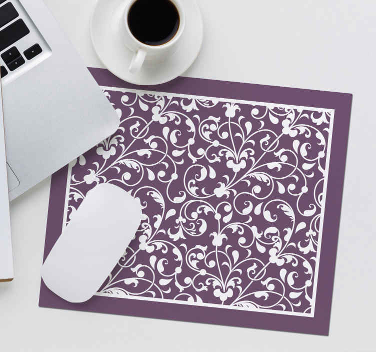 TenStickers. Ornamental leaf paisley paisley mouse mat. A lovely paisley flower mouse mat design to enjoy the use of your mouse without difficulty. It is made of good quality material and easy to maintain.
