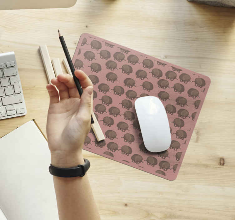 TenStickers. Porcupine and dots hedgehog mouse mat. Enjoy an amazing experience with the use of a mouse in our original mouse pad porcupine prints design. It is easy to maintain and of great quality.
