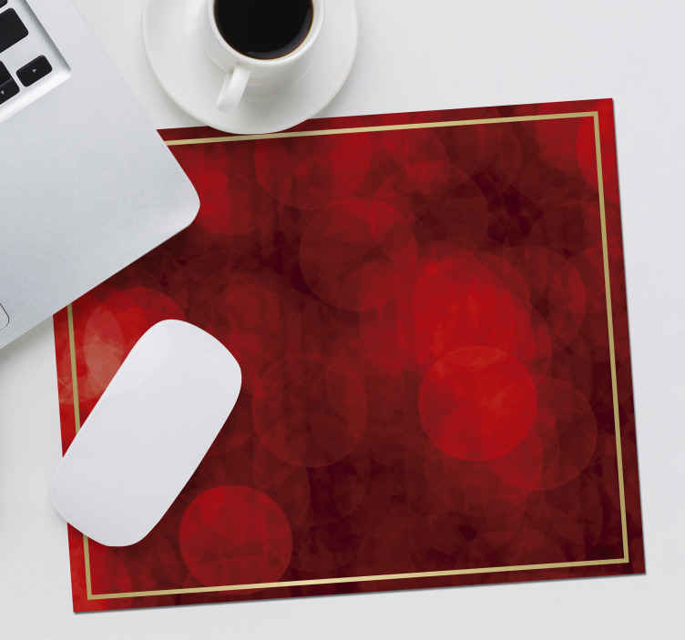 TenStickers. Merry Christmas in Red mouse pad patterns. Merry Christmas mouse pad for your mouse use. The design is made with red thematic background with golden border that depicts Christmas.