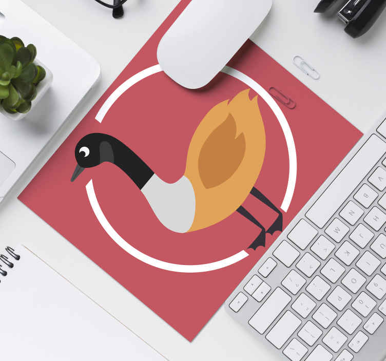 TenStickers. Canadian Duck original vinyl mouse pad. Featured duck original mouse pad design. A lovely thematic mouse mat with a red background, very easy for mouse use and made of high quality.