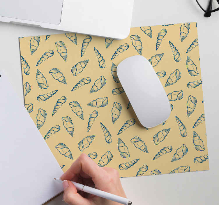 TenStickers. Seashell tiles seashell mouse mat. The mouse pad, it is made of high quality, no longer have a neutral or even boring mouse pad and opt for this one ! Home delivery