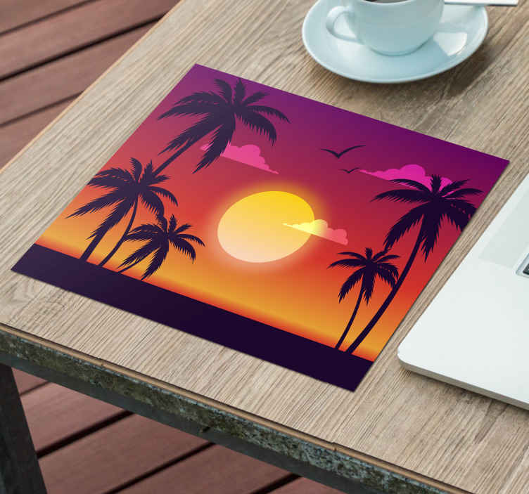 TenStickers. 70's Sunset 70's sun mouse mat. This 70's sun vinyl mouse pad will amaze all you friend and familly, easy to clean and to transport! Don't wait to but! Home delivery!