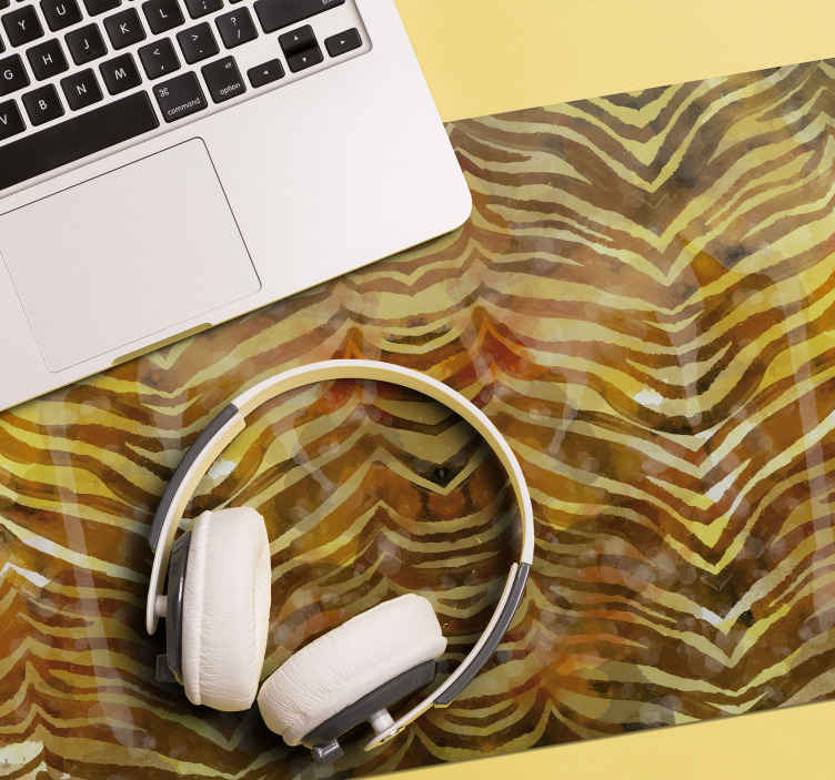 TenStickers. Textured Zebra Print mouse pads. Zebra print mouse pad which features an amazing zebra print pattern with hues of yellow and gold behind it. Choose your size.