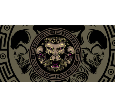 Yin yang ugle doodle ornament laptop skins Tenstickers