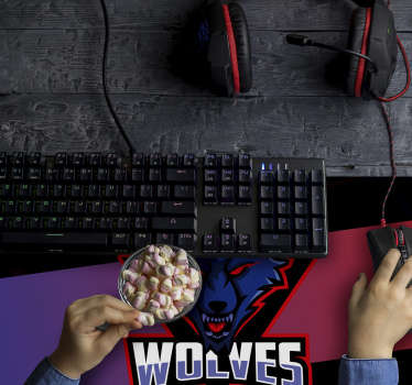Make your desk in the most original space of your room or office with this spectacular gaming mouse pad with the logo