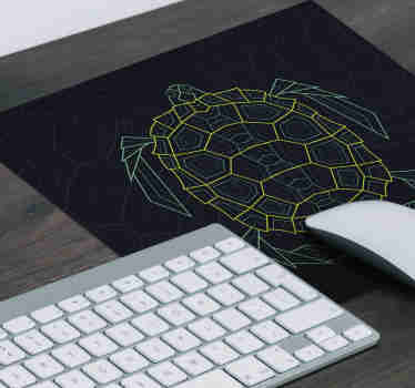 Check out our geometric turtle mousepad that has cool detailed details. Sign up for our website and you will get 10% off on your first order.