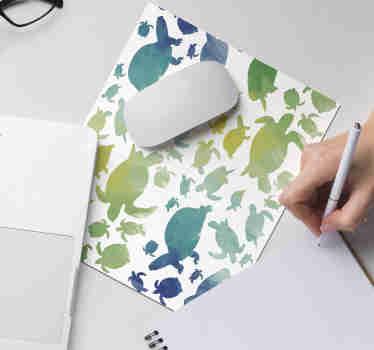 Eche un vistazo a nuestra hermosa alfombrilla ratón original colorida de tortugas que alegrará su habitación ¡Envío a domicilio!