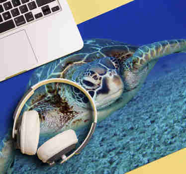 Come look at our gorgeous Hawksbill sea turtle mousepad that is pictured underwater.  We have +10,000 satisfied customers on the website.
