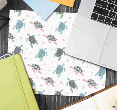 Look at our original turtle mousepad made with soft colors that will brighten your room. We have discounts available on the website.
