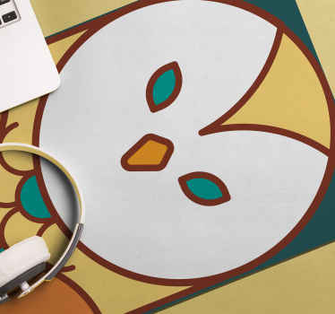 Owl mouse mat which features a stunning cartoon image of an owl painted in beige, green and brown. Anti-bubble vinyl used.