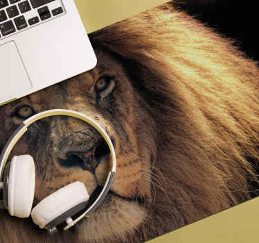 Animal mousepad which features an amazing image of a lion staring into the camera. High quality materials used. Worldwide delivery.