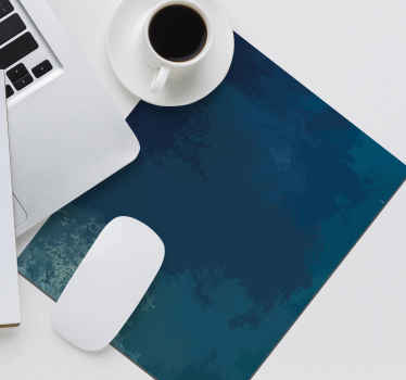 Original blue background  mouse pad with thematic design. It is available in different sizes, easy to use and anti allergic.
