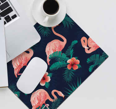 Buy our colorful flamingo pattern mouse pad to support your mouse with easy navigation. It is very friendly to use and decorative for your table space