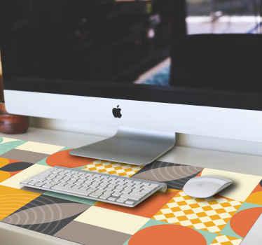 Fantástica alfombrilla xxl ratón de formas geométricas coloridas de alta calidad. Fácil de mantener y usar ¡Envío a domicilio!