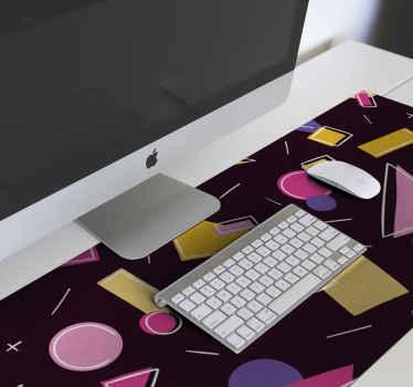 Geometrisches buntes gemustertes modernes Mauspad für Ihren Schreibtisch. Es ist pflegeleicht und aus hochwertigem Material gefertigt.