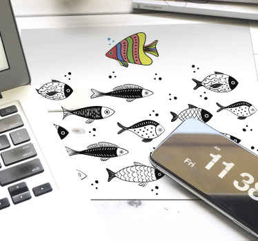 A counter flow patterned fish mouse pad design hosting different fishes. It is easy to use and anti allergic. It comes in different size options.