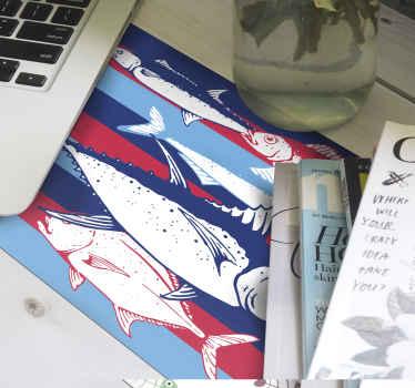 Un tapis de souris poisson pour décorer votre bureau et espace de travail. Sa qualité est élevée et il est lavable.