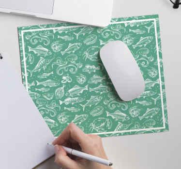 Una alfombrilla de ratón con patrón de peces es un gran elemento que mejorará el uso de tu ratón y decorará tu mesa ¡Envío a domicilio!