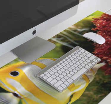 Tapis de souris poisson pour bien poser votre souris lorsque vous travaillez sur l'ordinateur. Le produit a une belle finition de surface qui facilite l'utilisation d'une souris.