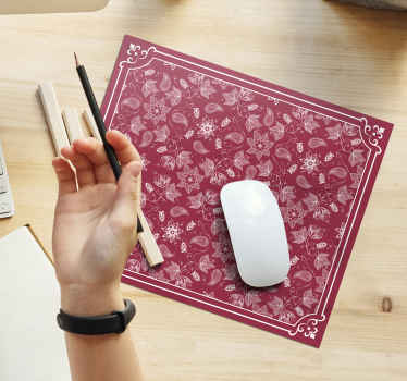 Una fascinante alfombrilla de ratón paisley hecha con un material original y de calidad. Es fácil de limpiar y antialérgica ¡Elige tus medidas!