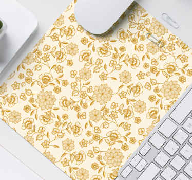 An amazing trendy mouse pad with lovely design of paisley in golden colour. It is easy to maintain and the quality is the best in the market.