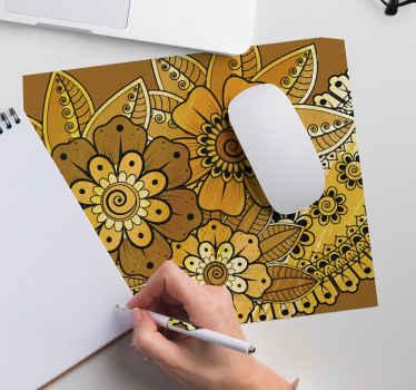 Disfrute de nuestra alfombrilla de ratón con estampado paisley indio en su mesa de trabajo ¡Está hecho con material de alta calidad! Compra online