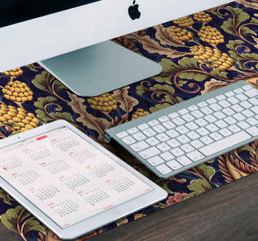 Decorate your working desk in our modern mouse pad design with realistic paisley design. It is made with good quality vinyl and easy to maintain.