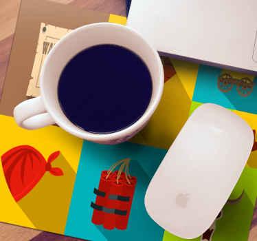 Increíble alfombrilla de ratón icónica de vaquero con diferentes diseños que representan para decorar tu escritorio. Elige medidas ¡Envío a domicilio!