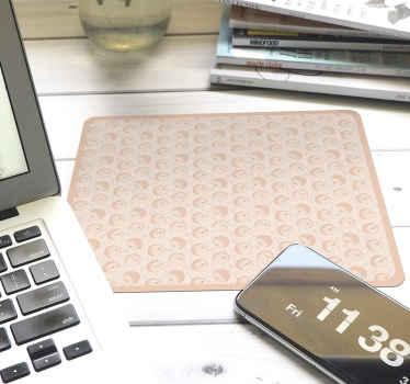 Precioso diseño de alfombrilla de ratón puercoespín con patrón de color rosa para decorar tu escritorio o regalar ¡Envío a domicilio!