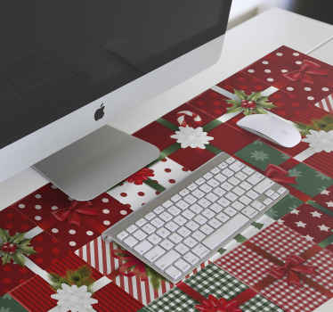Christmas mouse pad with different design of Christmas gift boxes. You can gift the design to loved ones, colleagues, staff and friends for Christmas.