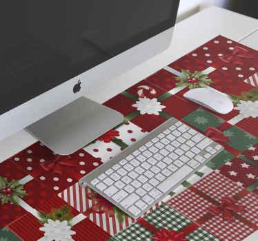 Vianočná podložka pod myš s rôznym dizajnom vianočných darčekových krabičiek. Tento dizajn môžete obdarovať na vianoce blízkym, kolegom, zamestnancom a priateľom.