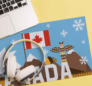 Fantastic and original Canadian symbols mousepads for your office or facility. Choose this uniqueCanada mousepad and enjoy the work on your laptop.