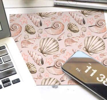 Schöne dekoratiif Mauspad Muster, das Design enthält kleine drucke von muscheln in fliesenmustern kann auch zu Hause geliefert werden