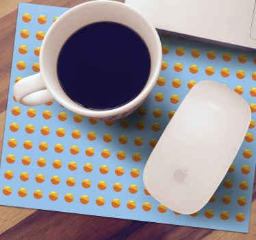 Obtenez ce tapis de souris à cercles orange à fond bleu pour utiliser votre souris en douceur tout en donnant à votre ordinateur un aspect incroyable.