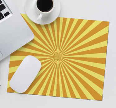 Utilisez votre souris avec ce tapis de souris abstrait jaune et orange de forme carrée! Variété de tailles disponibles!