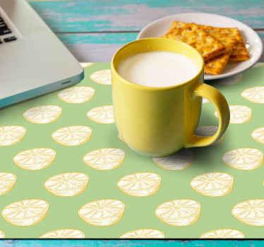 Alfombrilla ratón texturas cítrico con un diseño original de limones cítricos con un fondo verde que llenará de alegría tu casa ¡Envío exprés!