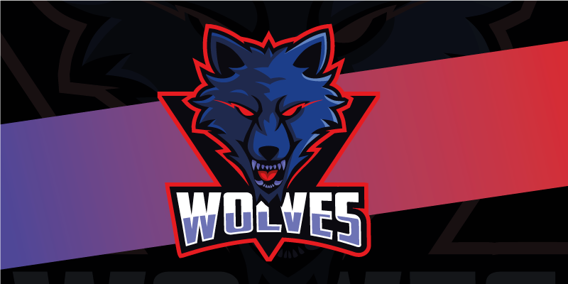 TenStickers. Wolves gaming vinyl mouse pad. Make your desk in the most original space of your room or office with this spectacular gaming mouse pad with the logo