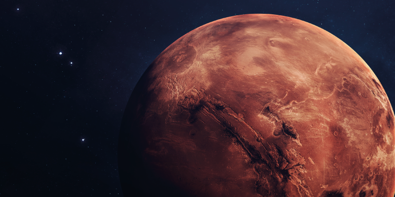 TenStickers. Marte original vinyl mouse pad. Amazing original mouse pad with a realistic image of the planet Mars that will totally transform the way you use your mouse.