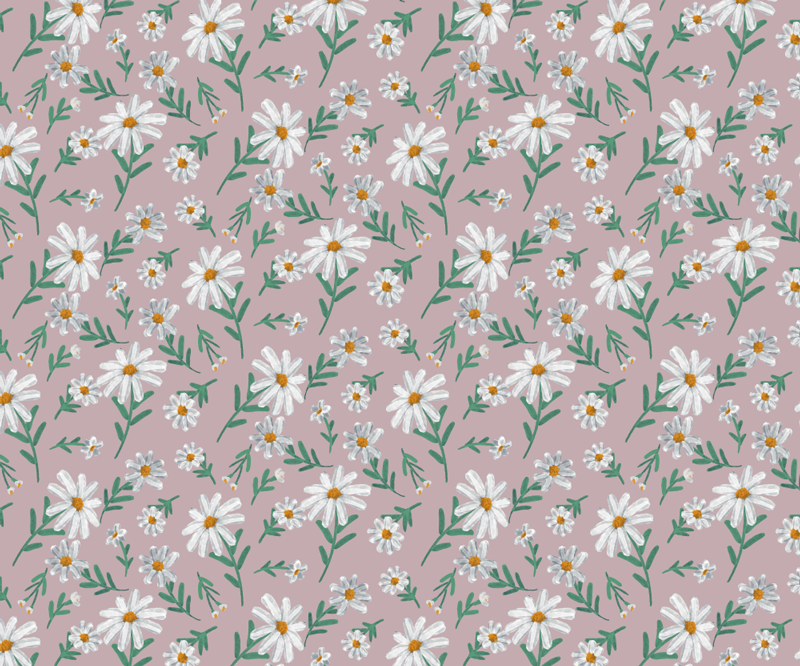 TenStickers. 70's Daisy flower pink floral mouse mat. With this magnificent floral mouse pad with a pattern of daisies on a pink background in a 70s style you will be able to use your mouse much easier.