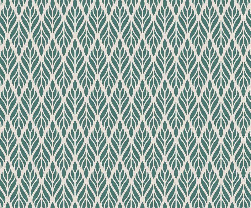 TenStickers. 民族花纹花卉鼠标垫. 精美的花卉鼠标垫,带有民族风格的米色背景绿色叶子图案,可让您的计算机更轻松地工作!