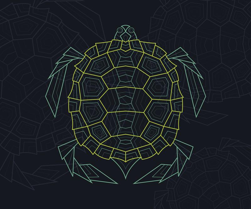 TenVinilo. Alfombrilla de ratón geométrico abstracto tortuga. Echa un vistazo a nuestra alfombrilla de ratón geométrica de tortuga que tiene detalles detallados geniales ¡Envío a domicilio!