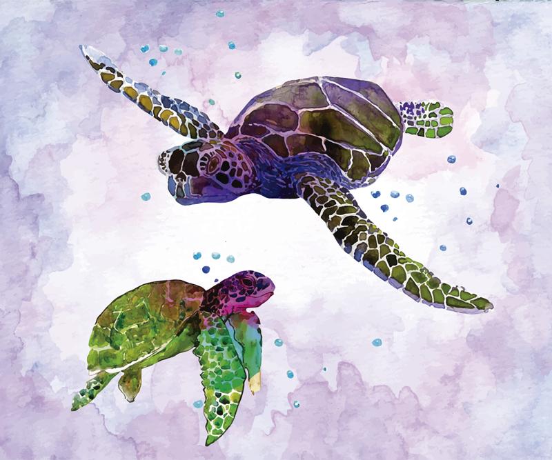 TenStickers. Barevné akvarel želvy podložka pod myš. Podívejte se na náš barevný podložka pod myš, která je vyrobena s akvarely a má želvy. Všechny jednobarevné výrobky jsou k dispozici v mnoha barvách.