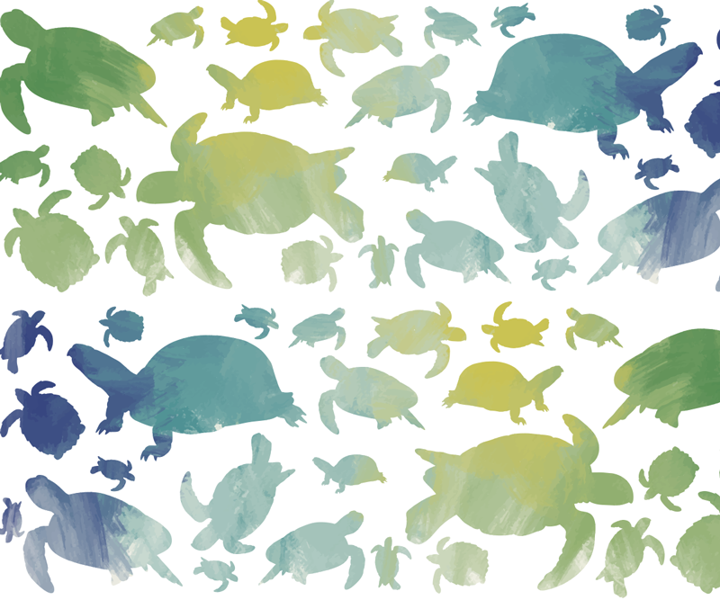TenStickers. коврик для мыши. взгляните на наш великолепный цветной коврик для мыши с черепаховым принтом, который украсит вашу комнату. изделие очень легко моется.