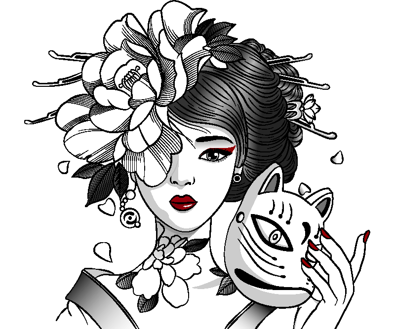 TenVinilo. Alfombrilla ratón anime chica anime gótica. Alfombrilla ratón anime que presenta una imagen impresionante de una chica de anime con una flor en el pelo sosteniendo un gato ¡Envío exprés!